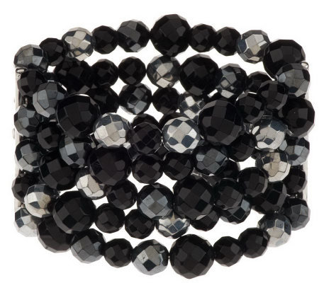 Linea by Louis Dell'Olio Faceted Bead StretchBracelet
