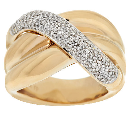 14K Gold 1/2 ct tw Diamond Swirl Design Ring