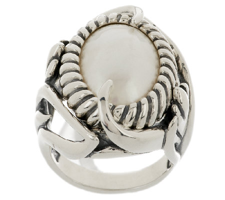 Carolyn Pollack Coronation Mabe Pearl Sterling Ring