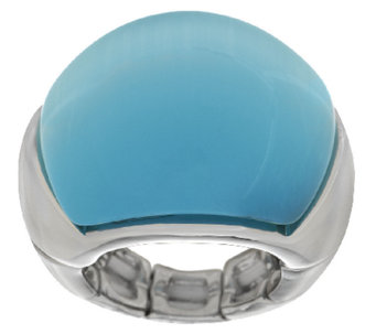 Susan Graver Cats Eye Cabochon Stretch Ring - J290184