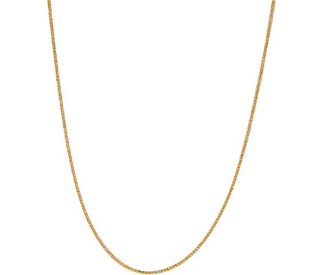 "18K Gold 24"" Diamond Cut Wheat Chain, 2.6g"