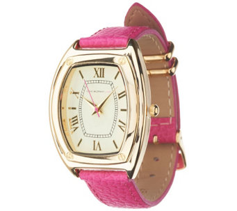 Isaac Mizrahi Live! Strap Watch with Metal Keepers - J294384