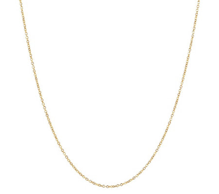 "Milor 30"" Fine Polished Oval Rolo Link Chain,14 K Gold"
