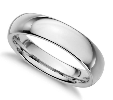 Sterling Silver 4MM Silk Fit Unisex Wedding B and Ring