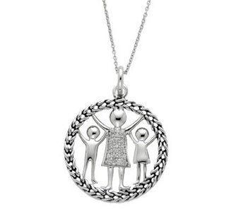 "Sentimental Expressions Sterling 18"" Knitted Together Necklac - J310584"