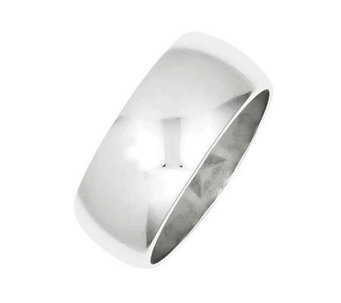 Sterling 9mm Polished Half-Round Ring - J310684