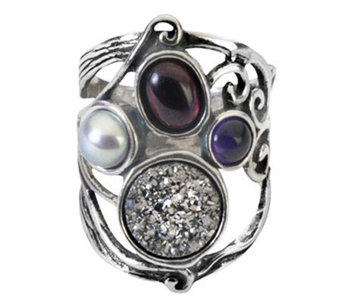 Or Paz Sterling Multi-Gemstone Ring - J311984