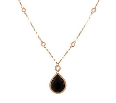 "Bronzo Italia 18"" Pear-Shaped Doublet Necklace"