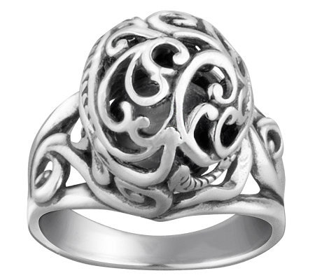 Carolyn Pollack Sterling Signature Bead Ring