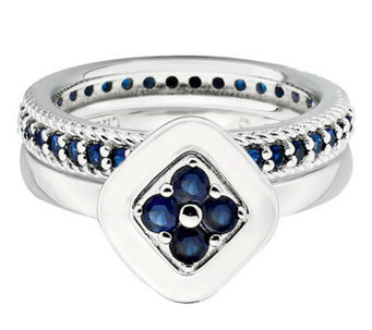 Simply Stacks Sterling Blistfully Blue Ring Set - J314584