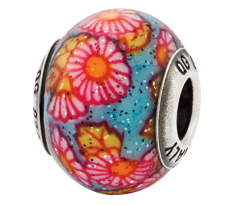 Prerogatives Sterling Multicolor Floral ItalianMurano Bead