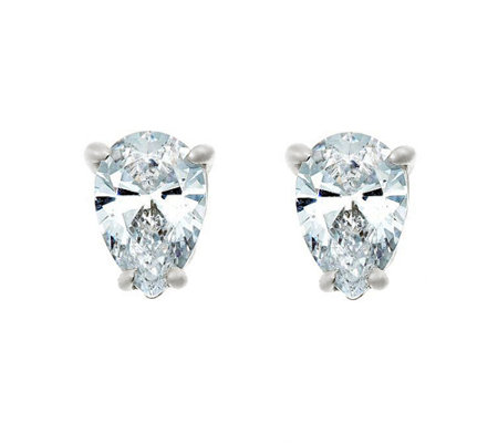 Pear Diamond Stud Earrings, 14K, 1/2cttw, by Af finity