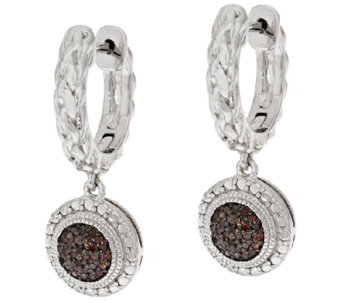 Round Pave' Woven Diamond Earrings, Sterling, 1/5ct by Affinity - J317384