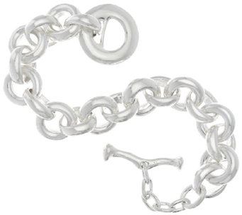 RLM Bronze White Oversized Rolo Link Toggle Bracelet - J319084