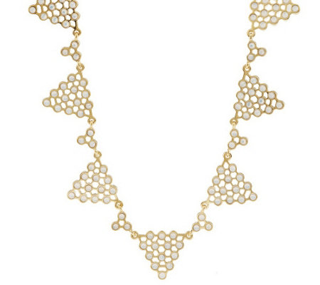 """As Is"" Luxe Rachel Zoe Polka Dot Pyramid Necklace"
