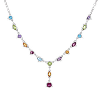 Judith Ripka Sterling 5.10 cttw Multi Gemstone Y Necklace - J327384