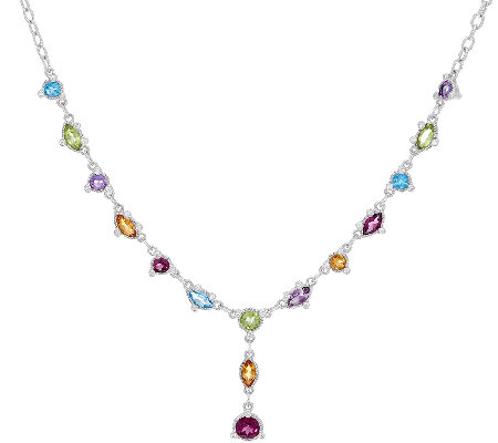 Judith Ripka Sterling 5.10 cttw Multi-Gemstone Y Necklace