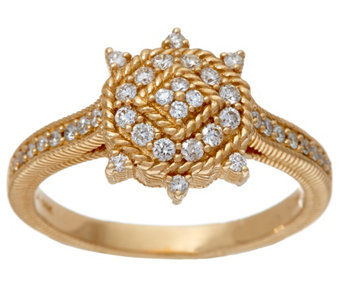 Judith Ripka 14K Gold 4/10 cttw Diamond Ring - J328684