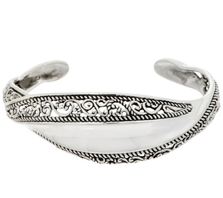 Carolyn Pollack Sterling Silver Signature Wave Cuff Bracelet