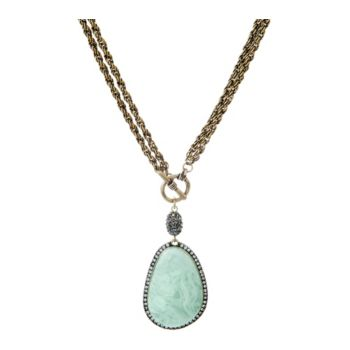 Joan Rivers Simulated Gemstone Pendant 36 Toggle Necklace