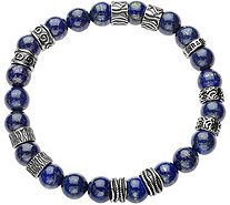 Sterling Men's Gemstone Bead Bracelet by Or Paz - J378884