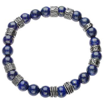 Sterling Men's Gemstone Bead Bracelet by Or Paz