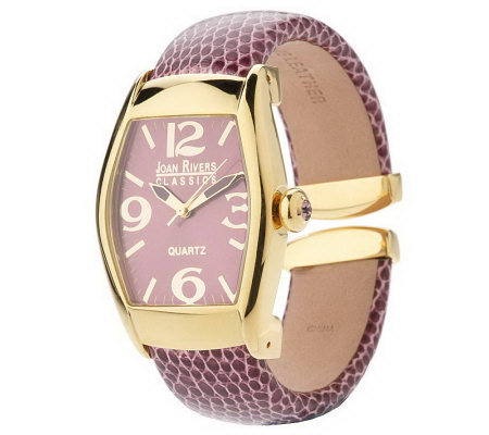 Joan Rivers Simply the Best Hinged Bangle Watch