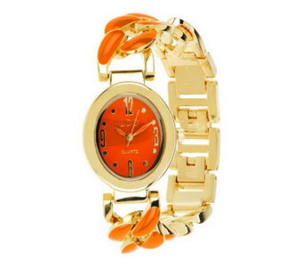 Linea by Louis Dell'Olio Enamel Link Watch - J277885