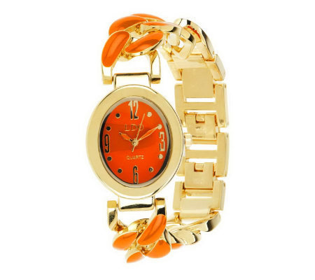 Linea by Louis Dell'Olio Enamel Link Watch