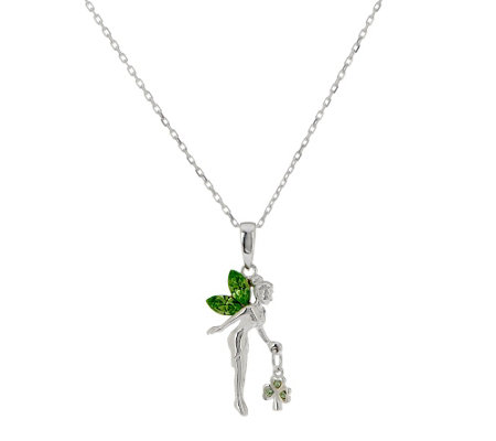 Solvar Irish Fairy Pendant with Shamrock