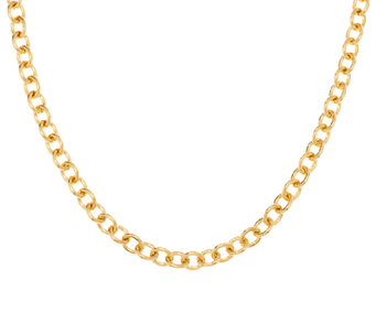 "Bronze 36"" Solid Polished Oval Link Necklace by Bronzo Italia - J289285"