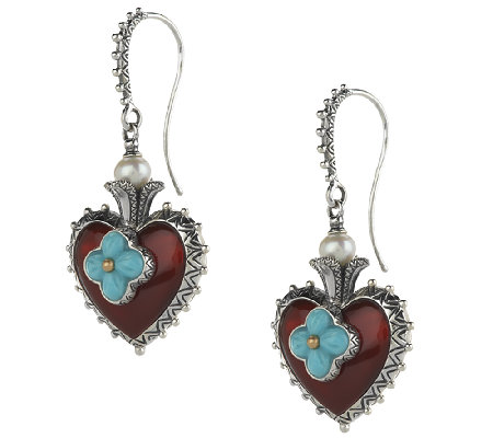 Barbara Bixby Sterling & 18K Multi-Gesmtone Heart Earrings
