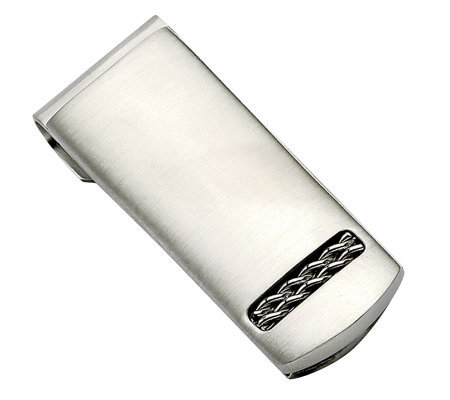 Forza Brushed Stainless Steel Money Clip