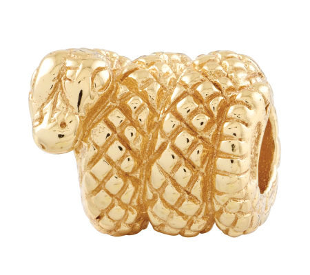 Prerogatives 14K Yellow Gold-Plated Sterling Snake Bead