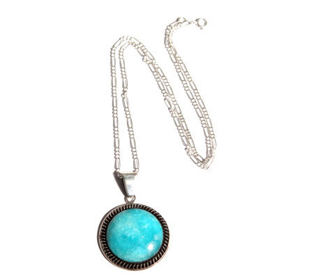 "Novica Artisan Crafted Sterling ""Andes Moon"" Pendant"