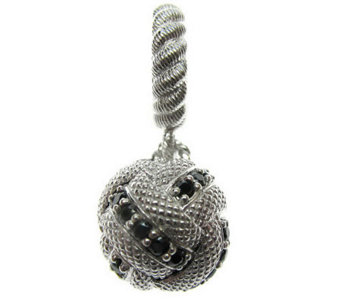 Judith Ripka Sterling Round Diamonique Ball Dangle Charm - J304485