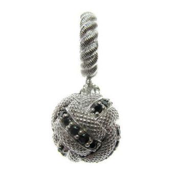 Judith Ripka Sterling Round Diamonique Ball Dangle Charm