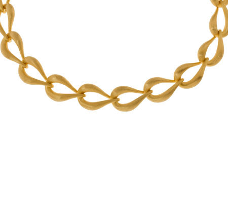 "Arte d'Oro 19"" Teardrop Shaped Link Necklace, 18K, 41.70g"
