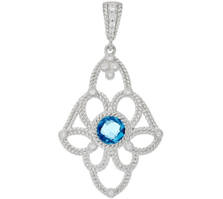 Judith Ripka Sterling Floral Gemstone Enhancer