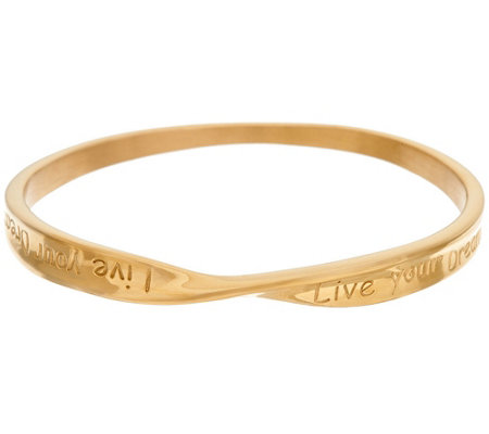 Stainless Steel Dream Message Round Twist Bangle