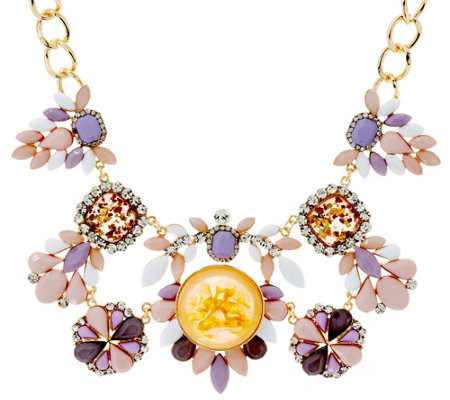 Susan Graver Multi-Colored Statement Necklace