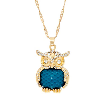 "C. Wonder 28"" Necklace with Novelty Owl Pendant"