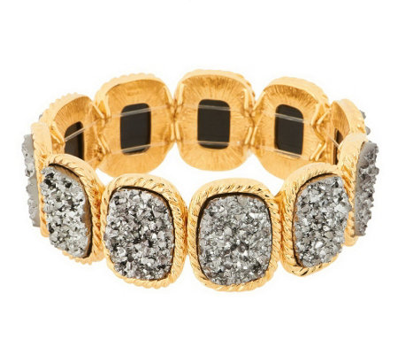 """As Is"" Joan Rivers Look of Drusy Stretch Bracelet"