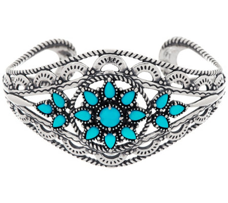 American West Bold Sterling Sleeping Beauty Turquoise Cuff