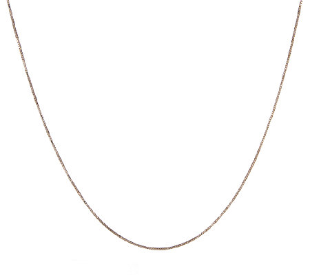 "20"" Box Chocolate Gold Necklace, 14K, 2.0g"