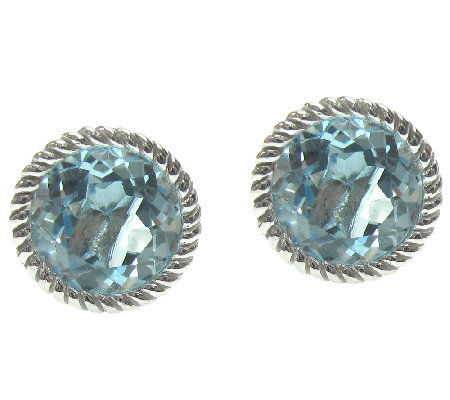 Judith Ripka Sterling Sky Blue Topaz Stud Earrings