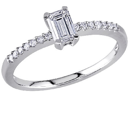 Emerald-Cut Diamond Ring, 14K White Gold by Affinity