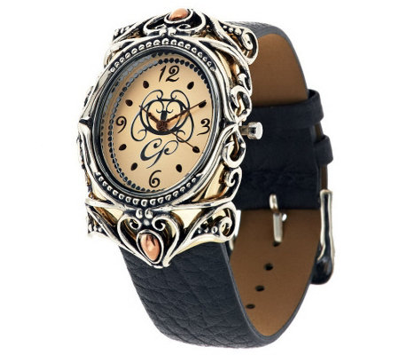 Carolyn Pollack Opulence Mixed Metal Strap Watch