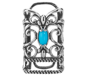 Carolyn Pollack Sterling Turquoise Fitbit Accessory - J341785