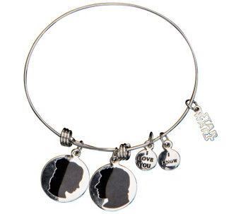 Star Wars Stainless Steel Han Solo & Princess Leia Bracelet - J342685